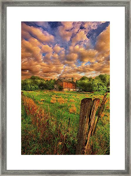 When There's No One Around Framed Print