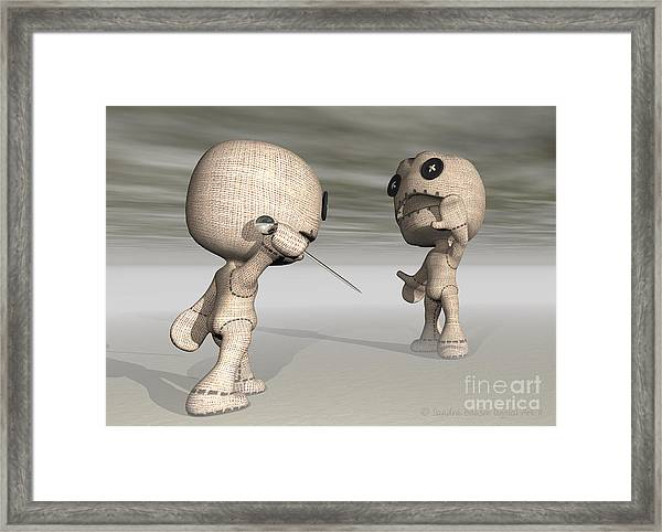 When Toys Go Bad Framed Print by Sandra Bauser Digital Art