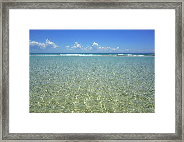 Where Crystal Clear Ocean Waters Meet The Sky Framed Print
