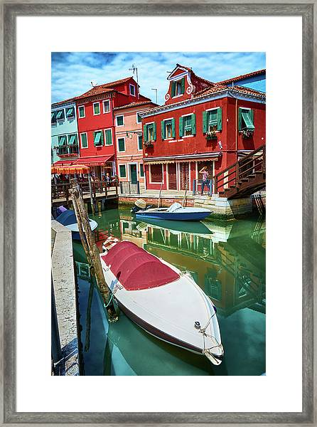 Where Did You Park The Boat? Framed Print