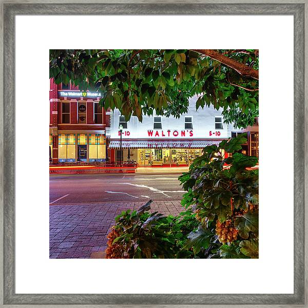 Where It All Began - Sam Walton's First Store - Bentonville Arkansas Framed Print