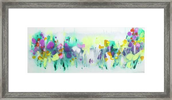 Where The Irises Grow Framed Print