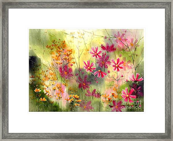 Where The Pink Flowers Grow Framed Print