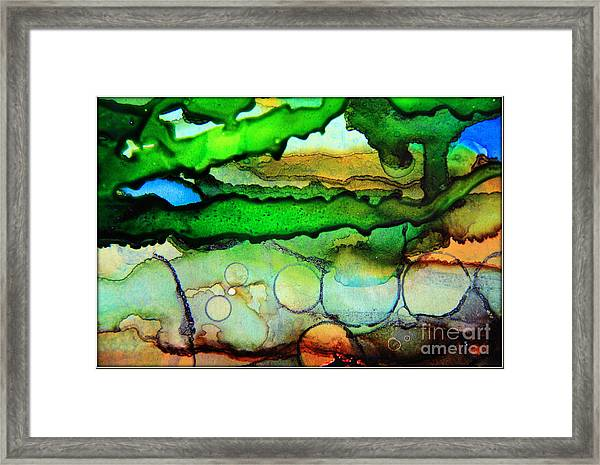 Where The Rivers Flow.. Framed Print
