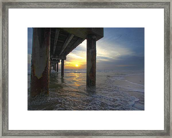 Where The Sand Meets The Surf Framed Print