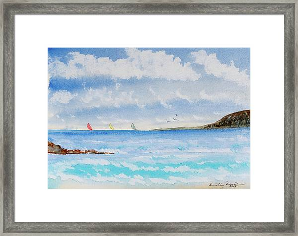 Where There's A Wind, There's A Race Framed Print