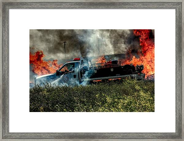 Where There's Smoke... Framed Print