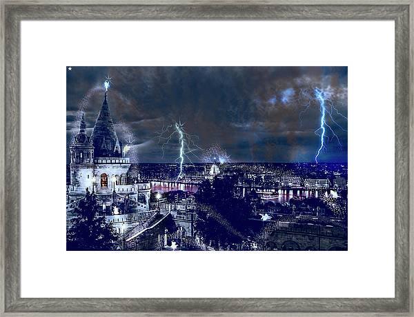 Whimsical Budapest Framed Print