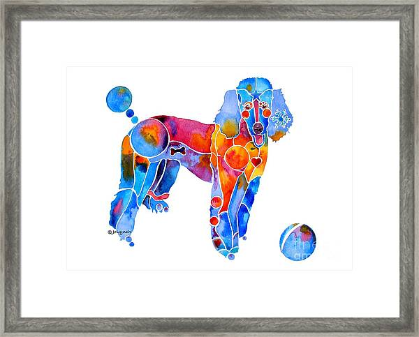 Whimsical French Poodle Framed Print