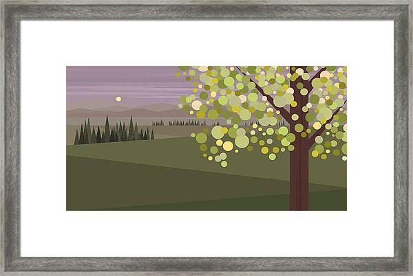 Whimsical Green Tree Framed Print