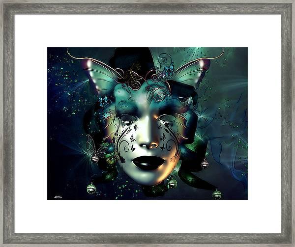 Whimsical Masquerade Framed Print