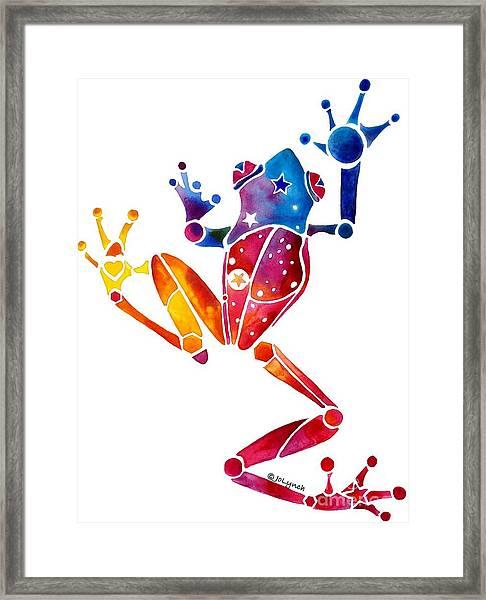 Whimzical Crazy Tree Frog 1 Framed Print