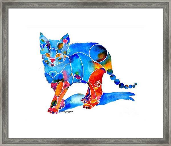 Whimzical Katie Kitten Framed Print
