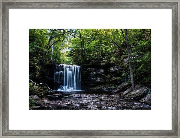 Whispering Falls Framed Print