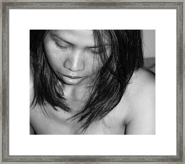 Whispering Hair Framed Print
