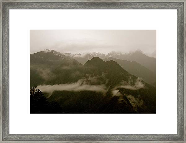 Whispers In The Andes Mountains Framed Print