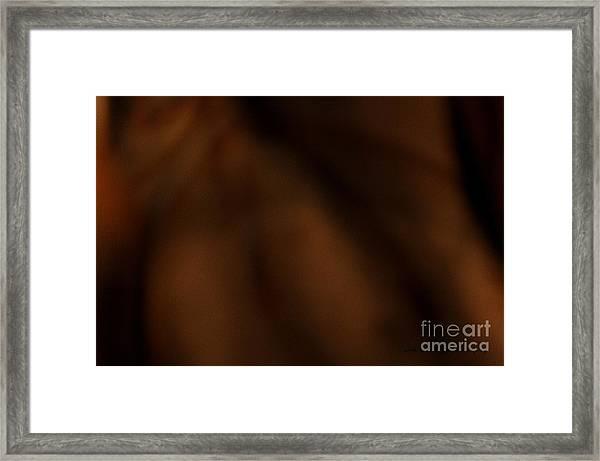 Whispers In The Dark Framed Print
