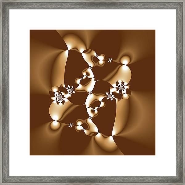 White And Milk Chocolate Fractal Framed Print