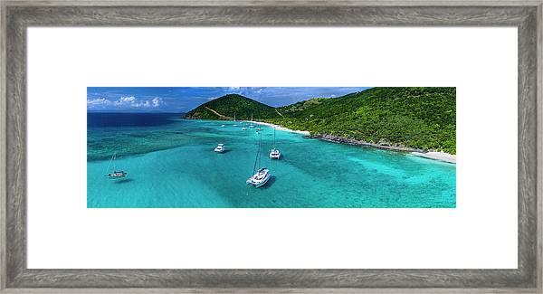 White Bay Framed Print