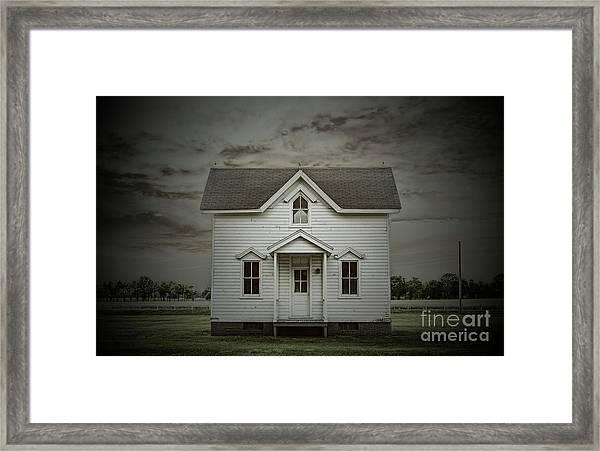 White Clapboard Framed Print