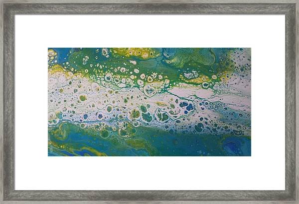 White Flow Framed Print