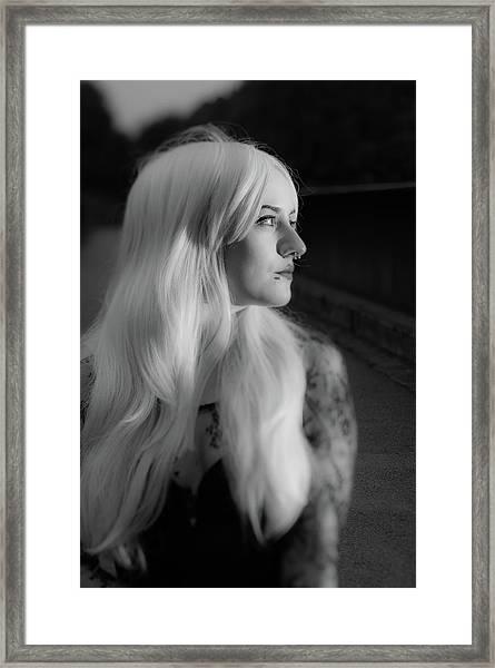 White Heat Framed Print