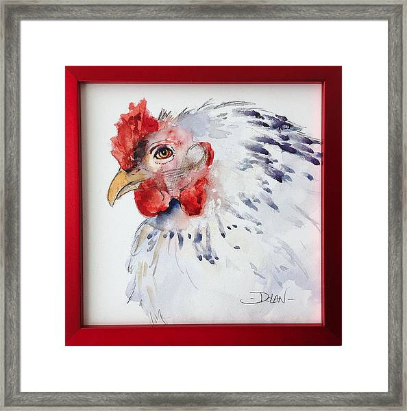 White Hen Framed Print