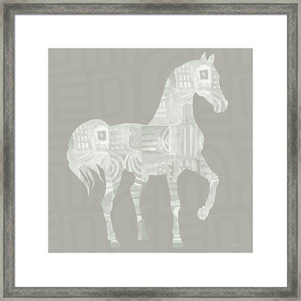 White Horse 1- Art By Linda Woods Framed Print
