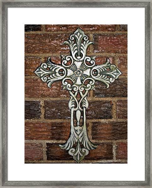 White Iron Cross 1 Framed Print