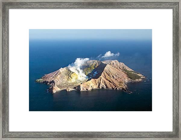 White Island Framed Print