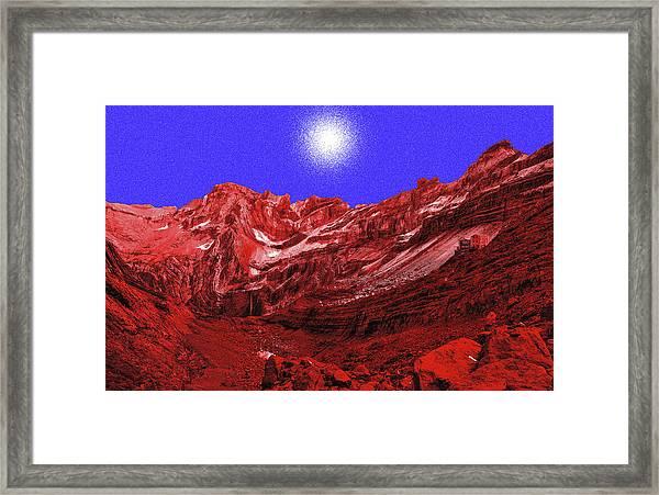 White Light Above Marbore Framed Print