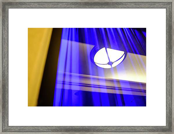 White Light With Blue And Yellow In Winter Park Florida Framed Print