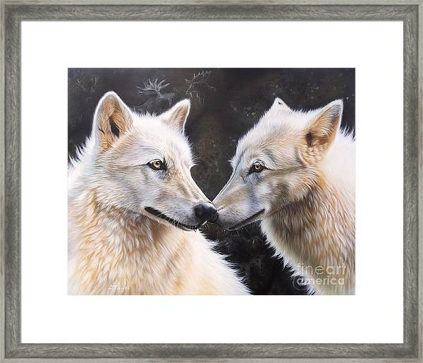 White Magic Framed Print