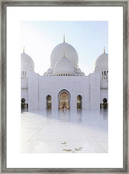 Framed Print featuring the photograph White Mosque by Ryan Miglinczy