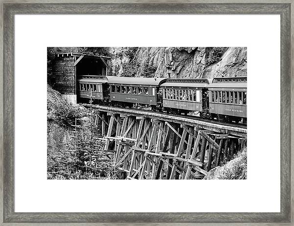 White Pass Railway Framed Print