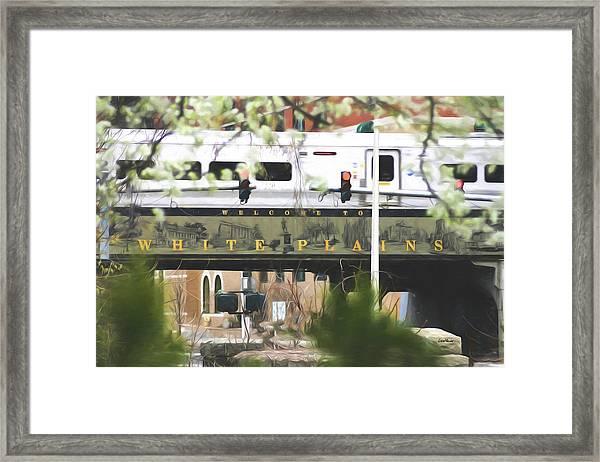 White Plains Train Station Framed Print