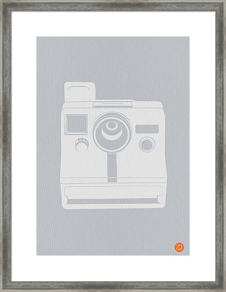 White Polaroid Camera Framed Print