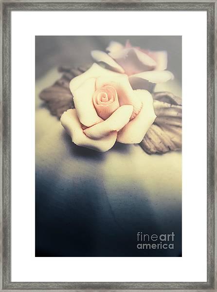 White Porcelain Rose Framed Print