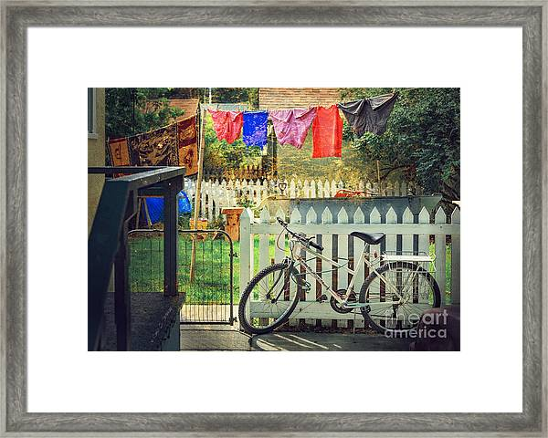 White River Bicycle Framed Print