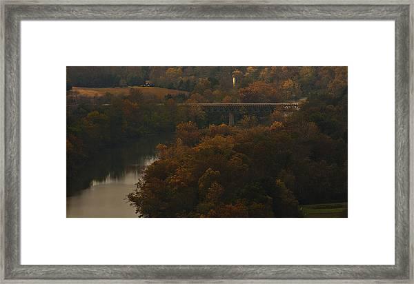 White River Foliage Framed Print