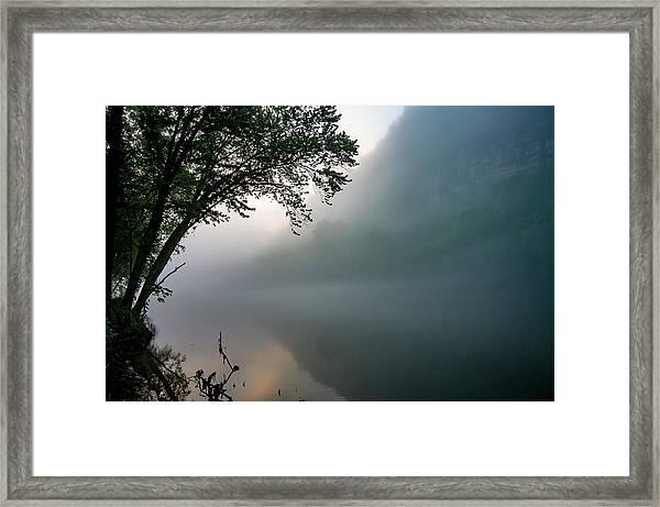 White River Morning Framed Print