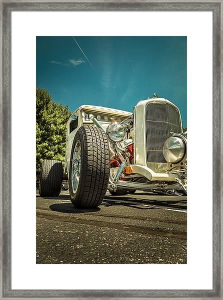 White Rod Framed Print