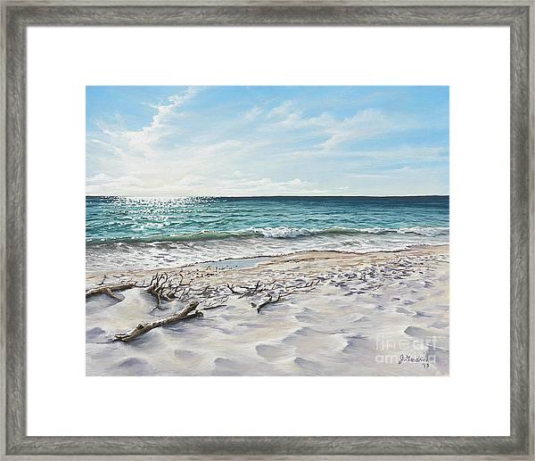 White Sands Of Tiger Tail Framed Print