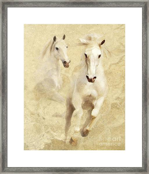 White Thunder Framed Print