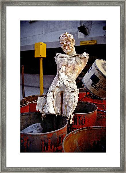 Framed Print featuring the photograph White Trash by Skip Hunt