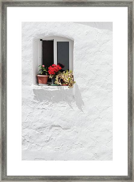 White Window Framed Print