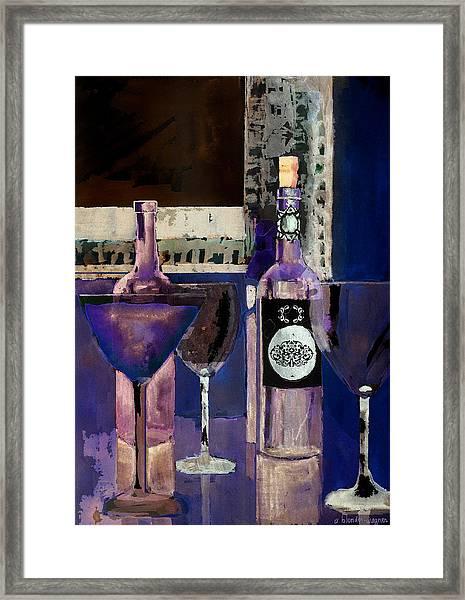 White Wine Inverted Framed Print