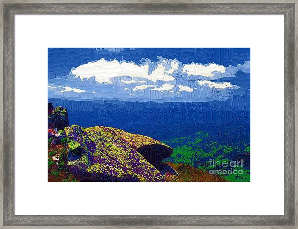 Whiteface Mountain View Framed Print by Diane E Berry