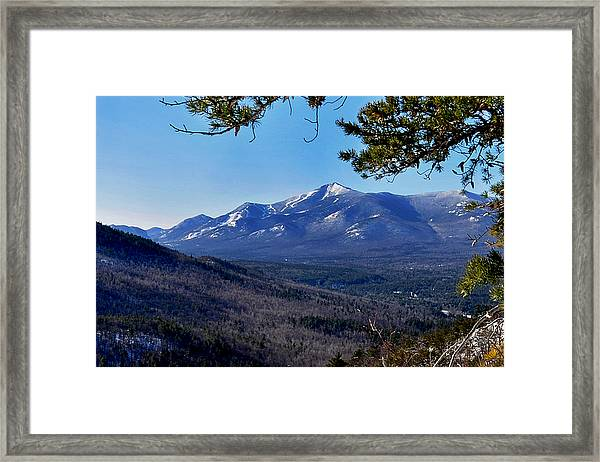 Whiteface Mt From Clark Mt. Framed Print