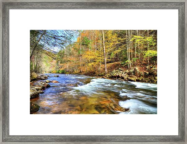 Whitetop River Fall Framed Print